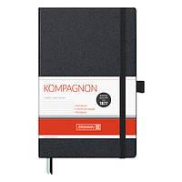 Записная книга блокнот А5 Brunnen 192 л. линия тв. обл. чёрный Компаньон 10-552 27 05