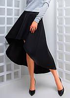 Кашемировая юбка миди с асимметрией