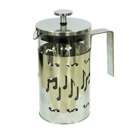 Заварочный чайник с пресс-фильтром Стальная мелодия, 600 мл ( френч-пресс ), фото 2