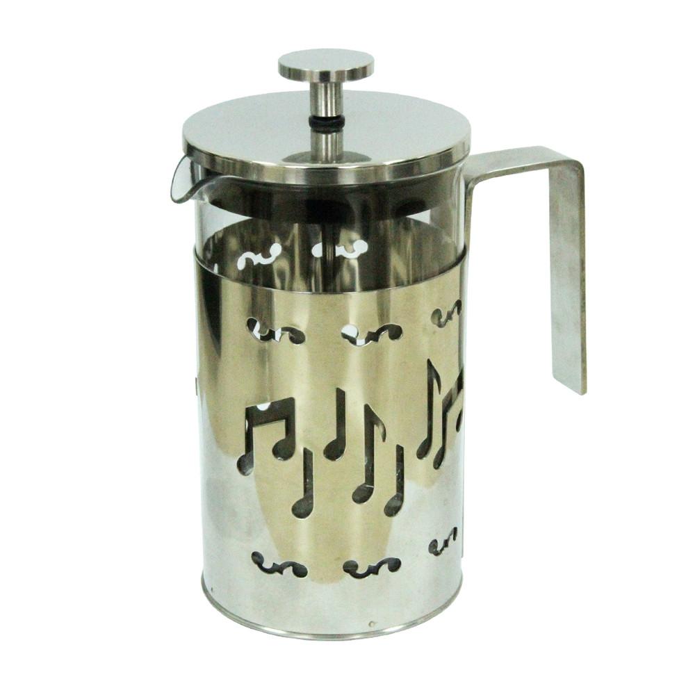 Заварочный чайник с пресс-фильтром Стальная мелодия, 600 мл ( френч-пресс )