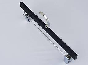 Плечики вешалки тремпеля  для брюк и юбок матовый Soft-touch черного цвета, длина 33 см, фото 2