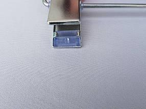 Плечики вешалки тремпеля  для брюк и юбок матовый Soft-touch черного цвета, длина 33 см, фото 3