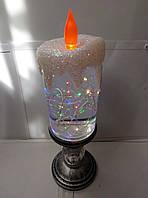 Декоративная новогодняя свеча с подсветкой+USB шнур