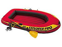 Надувная лодка с веслами и насосом Intex 58358 Explorer Pro 300 Set, 244 х 117 х 36 см, фото 1