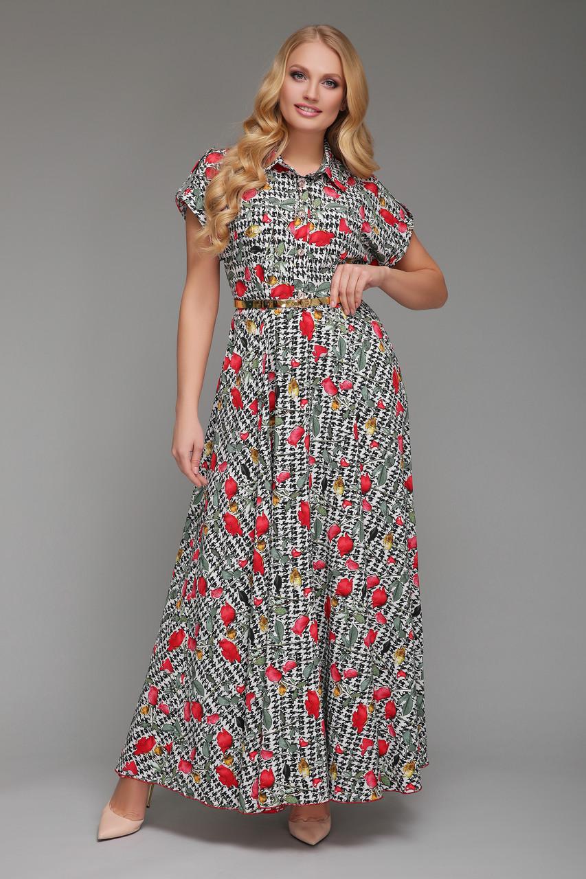 Платье длинное Алена Розы 48 р