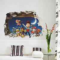 """Виниловая 3D наклейка на стену """"Щенячий патруль"""", фото 1"""