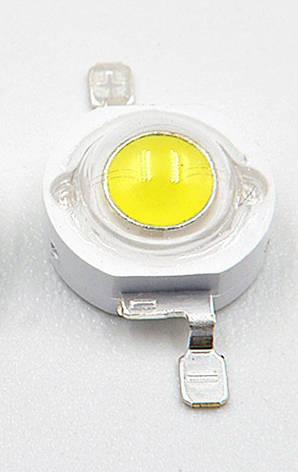 LED светодиод 3W 100-120LM  3.2-3.4v WHITE , фото 2