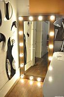 Зеркало с подсветкой из натур. дерева. Модель Р9