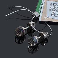 Серебряные серьги пусеты Шарик Swarovski, фото 1