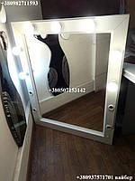 Зеркало с подсветкой из натурального дерева. Модель Р11