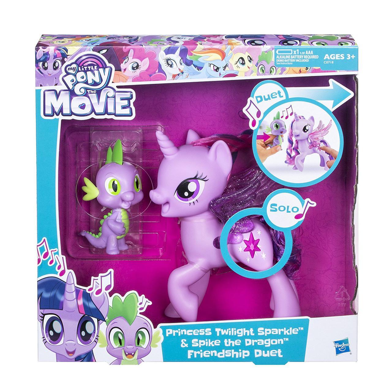 My Little Pony Дуэт дружбы Твайлайт и Спайк пони звук Princess Twilight Sparkle Spike the Dragon Friendship