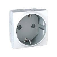 Розетка с заземлением белая Schneider Electric - Unica (mgu3.036.18)