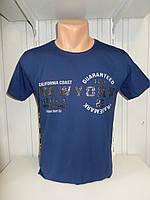 Футболка мужская RBS, накатка стрейч коттон New York 009 \ купить футболку мужскую оптом