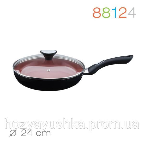 Сковорода с крышкой Granchio Terracotta 24 см (88124)