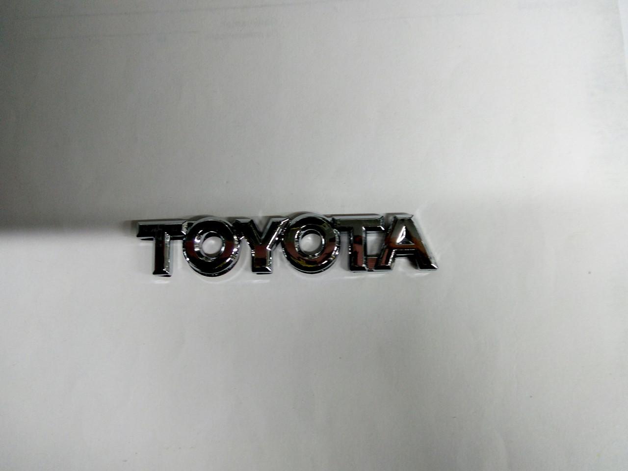 Надпись toyota