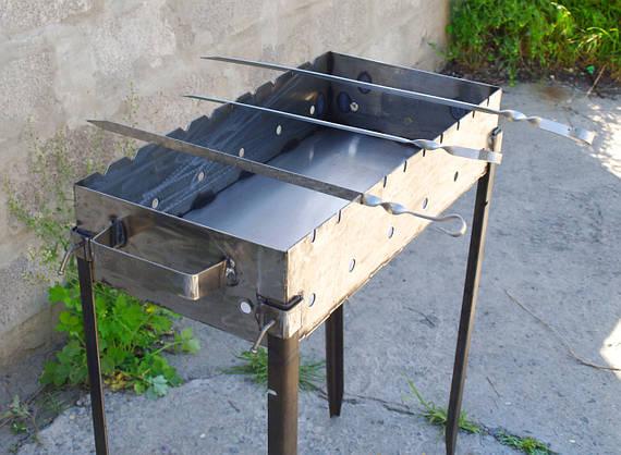Качественные стальные шампура для дома