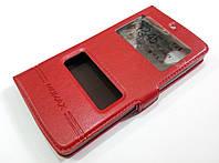 Чехол книжка с окошками momax для LG Nexus 5 d820 / d821 красный