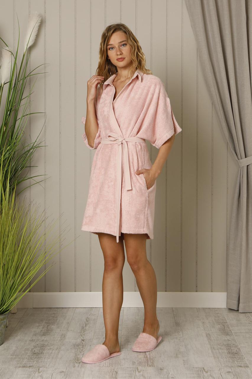 Жіночий халат+тапочки HAYS 18552 бамбук