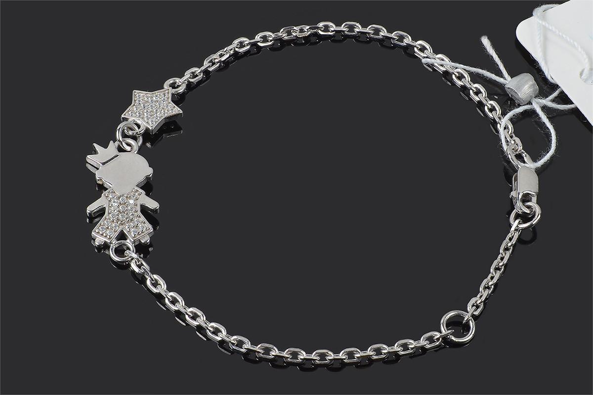 Мамин браслет из серебра Мальчик