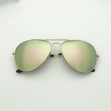 Очки солнцезащитные авиаторы 3025 с градиентом желтые