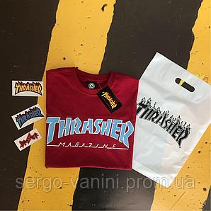 Thrasher . Мужская и женская футболка. Топовая бирка.