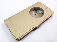 Чехол книжка с окошком momax для LG K5 x220ds золотой