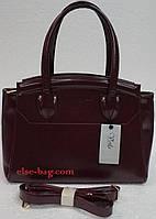 Каркасная женская сумка из матового лака
