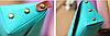 Школьный пенал строгий цвета аквамарин, фото 2
