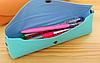 Школьный пенал строгий цвета аквамарин, фото 3