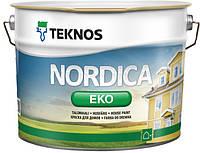 Краска для деревянных фасадов Nordica Eko Teknos глянцевая
