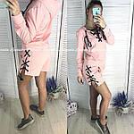 Стильный женский костюм двойка со шнуровкой, фото 6