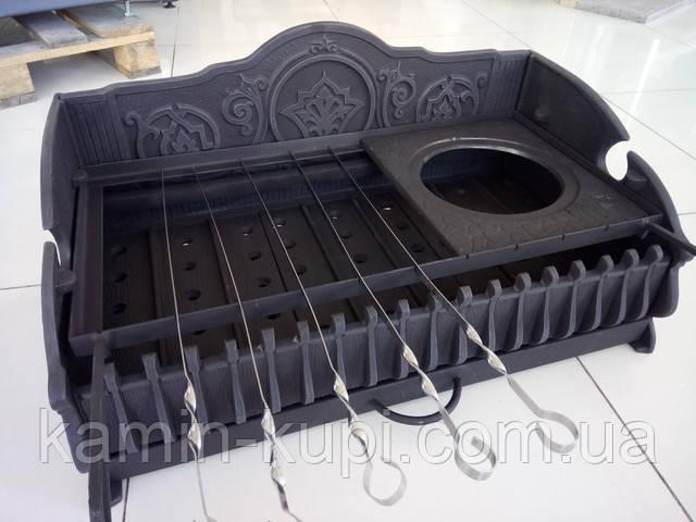Фото «Королевский» с шомпурами плитой под казан