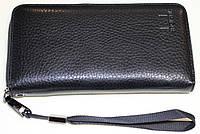 Бумажник-клатч мужской, черный, 19,5х10х2,5 см, фото 1
