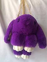 Фиолетовый заяц рюкзак 34/17 см, фото 1