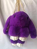 Фиолетовый заяц рюкзак 34/17 см