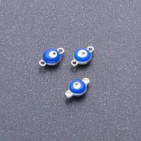 Фурнитура Коннектор Глаз синий серый металл d-7мм L-12мм
