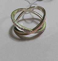 Серебряное кольцо Галактика с золотом , фото 1