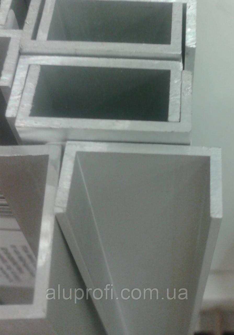Швеллер алюминиевый 35х20х1,5 мм анод