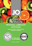 Съедобный лубрикант со вкусом тропических фруктов JO H2O LUBRICANT TROPICAL PASSION, 3 мл.