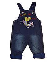 Детская одежда оптом Турция Комбинезон джинсовый  утеплённый (махра) р. 6-12мес.