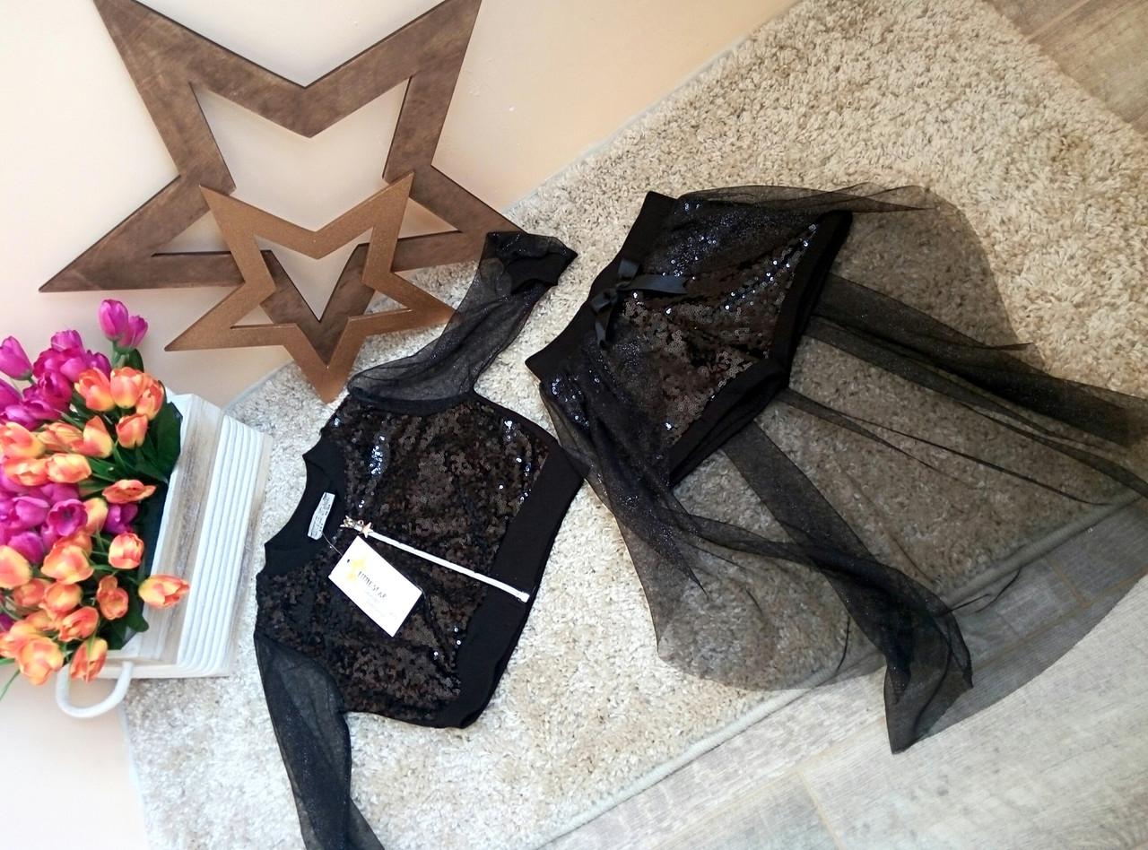 Нарядный костюм с пайетками для девочек 2-7 лет Little star Турция