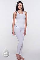 Антицеллюлитные леггинсы для похудения, для фитнеса (белые)