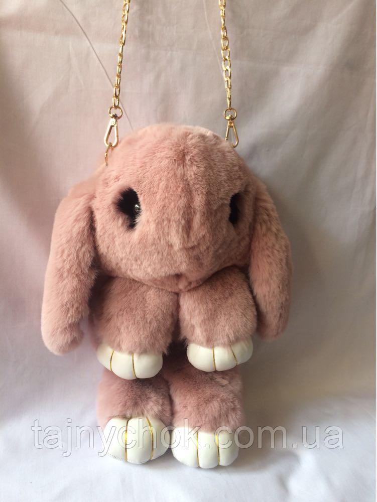 Меховой заяц рюкзачок