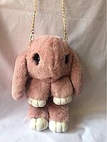 Меховой заяц рюкзачок, фото 1