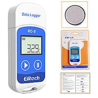 Реєстратор температури Elitech RC-5 (Великобританія) (-30 ° C - + 70 ° C) Пам'ять 32000. PDF, Word, Exel, TXT