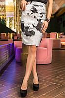 Женская юбка короткая с пайетками, фото 1