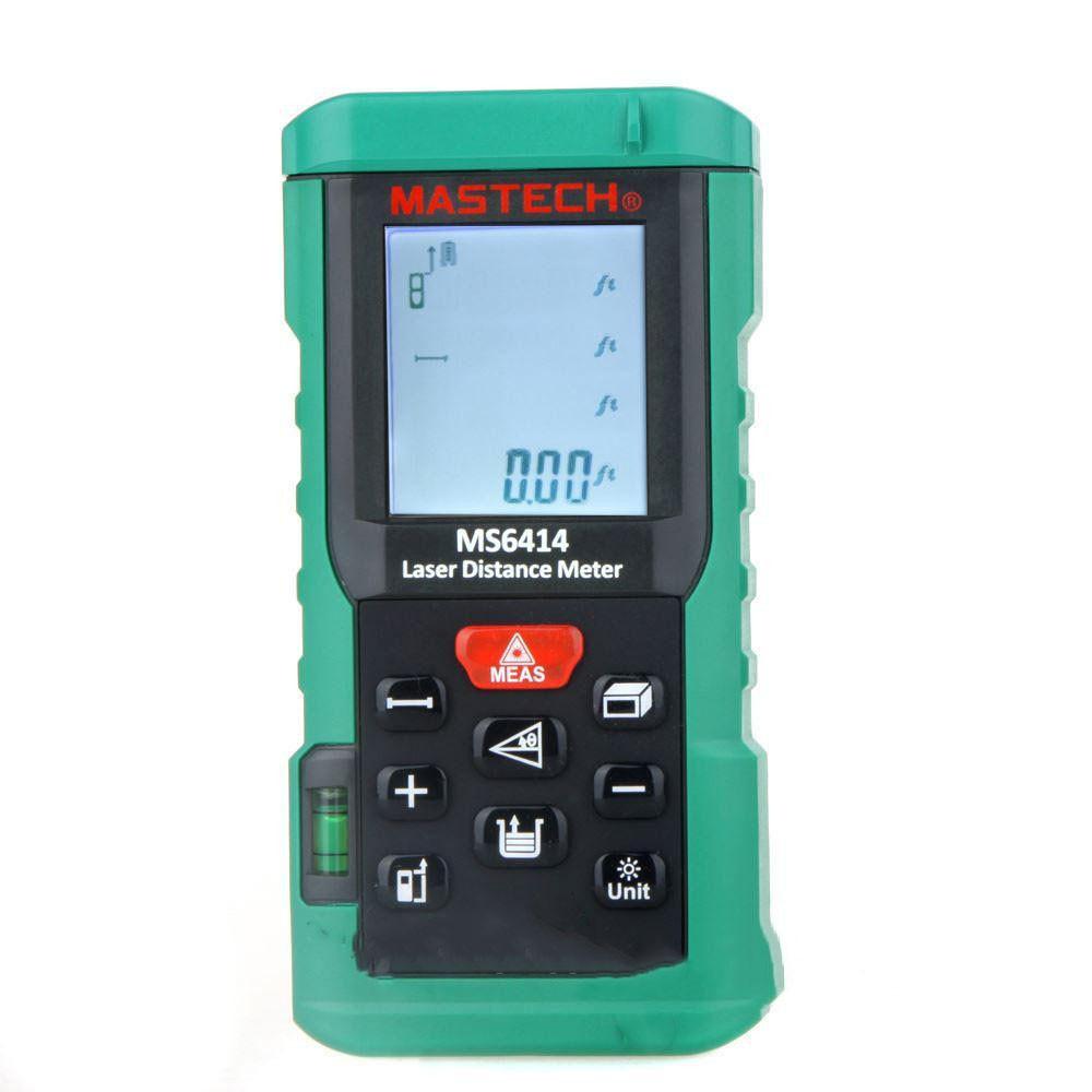 Лазерный дальномер ( лазерная рулетка ) Mastech MS6418 (0,046-80 м) проводит измерения V, S, H, память 99