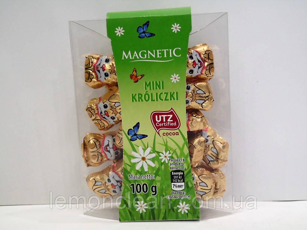 Шоколадные фигурки Magnetic мини кролики 100г