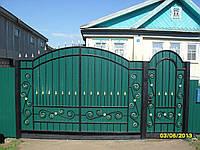 Ворота с елементами ковкы Сента