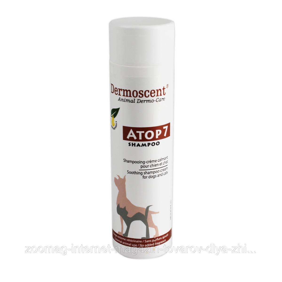"""Успокаивающий шампунь-крем для собак и кошек """"ATOP 7® Shampoo"""", Dermoscent™ (200мл)"""